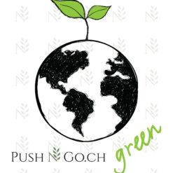 Push N Go - Baumwolltasche - Green World