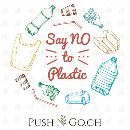 Push N Go - Stofftasche - Say No to Plastic