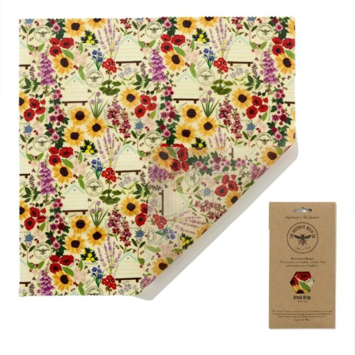 beeswax wrap floral