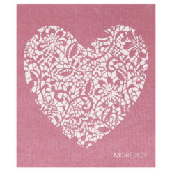 Putzlappen Wedding Heart Pink